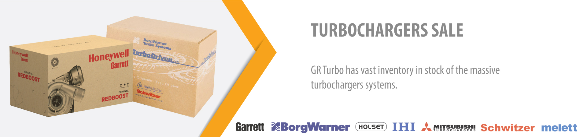 GR Turbo has vast inventory in stock of the massive turbochargers systems.